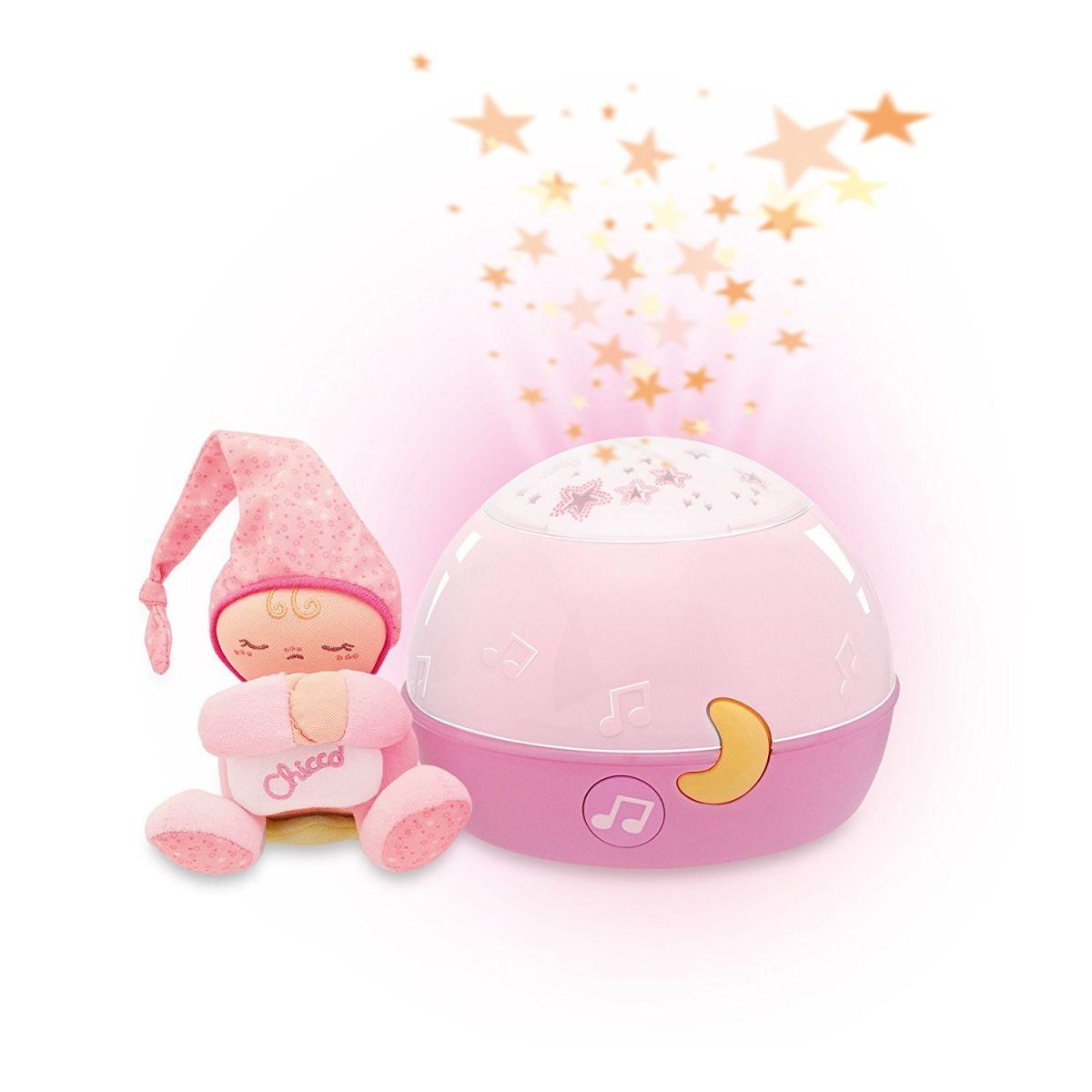Chicco Projektor GoodNight Stars - růžový