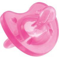 Chicco Šidítko Physio Soft celosilikonové 6-12 m růžové