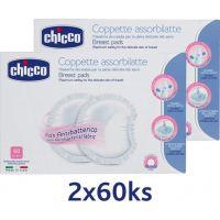 Chicco Tampóny do podprsenky antibakteriální 120 ks