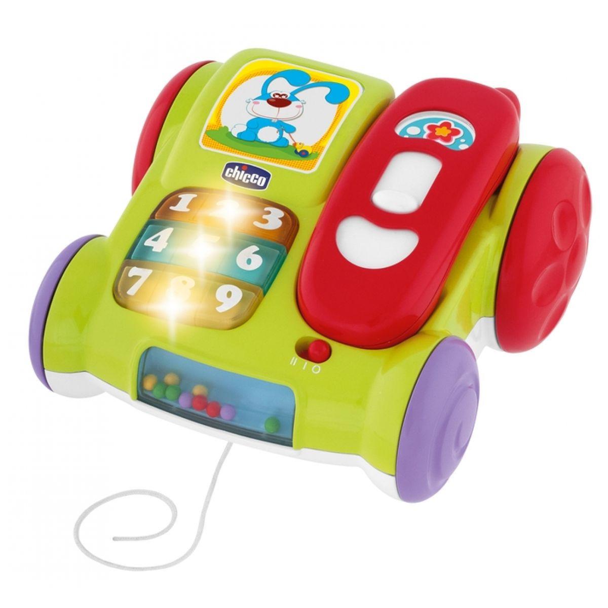 CHICCO telefónek hudební na kolečkách