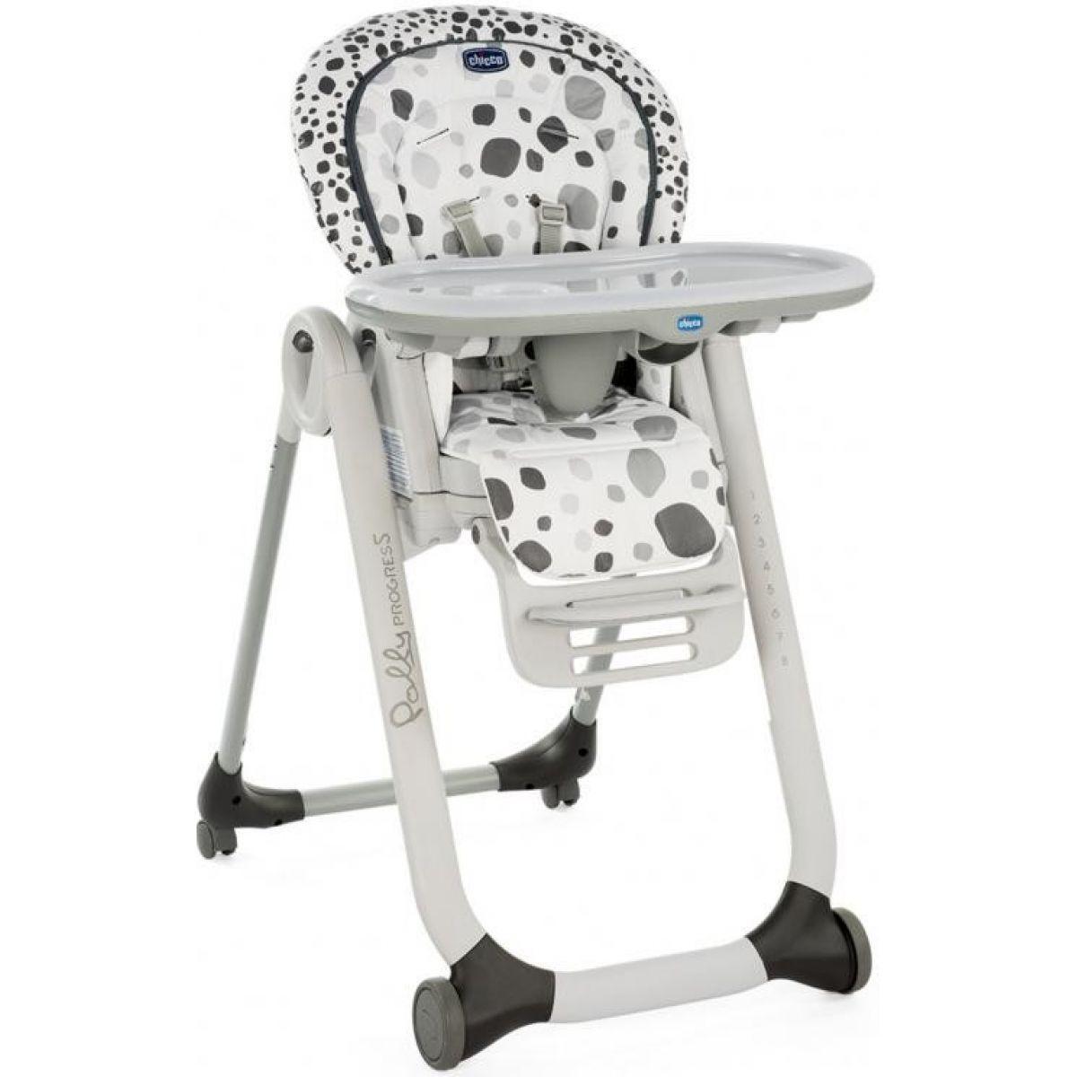 Chicco Židlička jídelní Polly Progres5 Anthracite