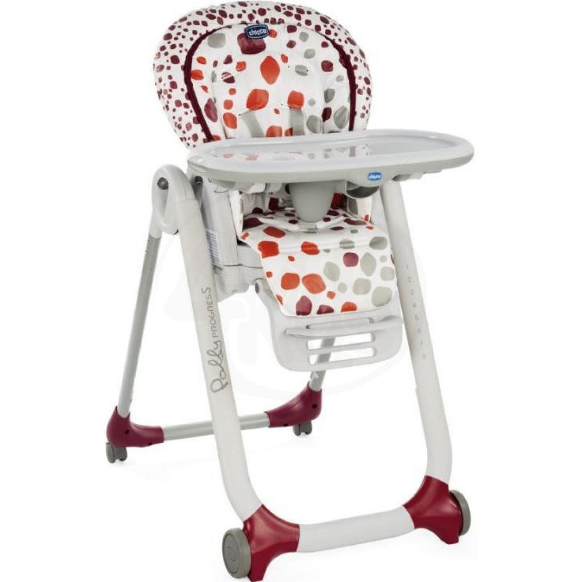 Chicco Židlička jídelní Polly Progres5 Cherry