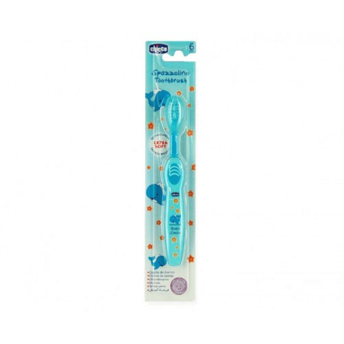 CHICCO 02315 Zubní kartáček modrý