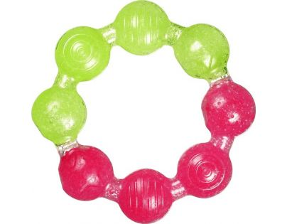 Chladivé gelové kousátko kroužek Munchkin - Růžovo-zelená