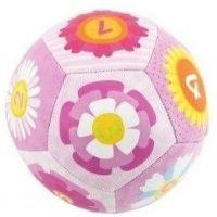 Chrastítko míček 12 cm růžový