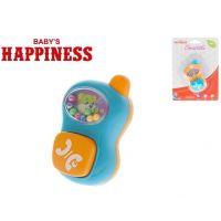Mikro Chrastítko telefonek s kuličkami Babys Happiness