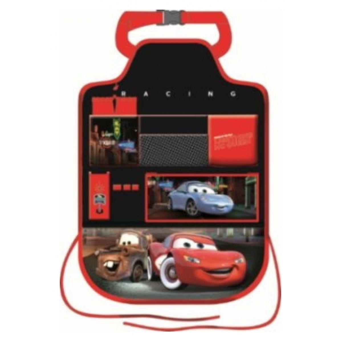 Chránič sedadla s kapsami černo-červený Cars