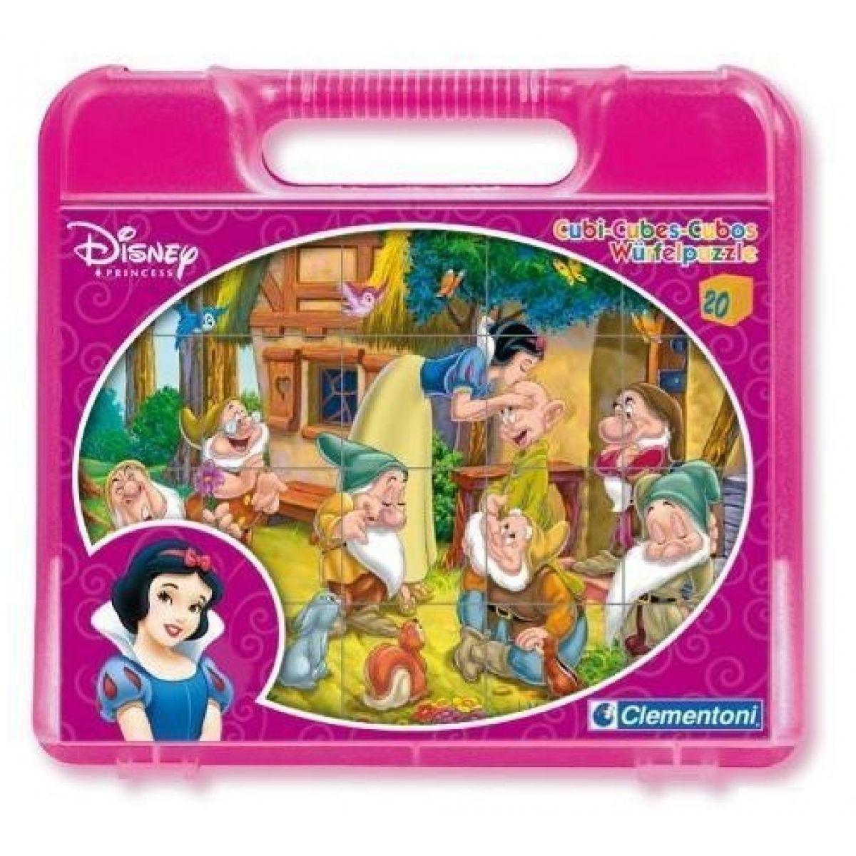 Clementoni Disney Sněhurka Kostky v kufříku 20k