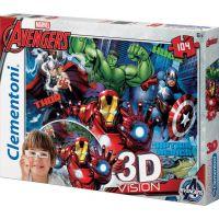 Clementoni Avengers 3D Vision Puzzle 104 dílků