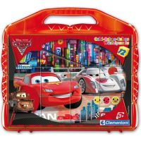 Clementoni Cars Kostky v kufříku 12ks