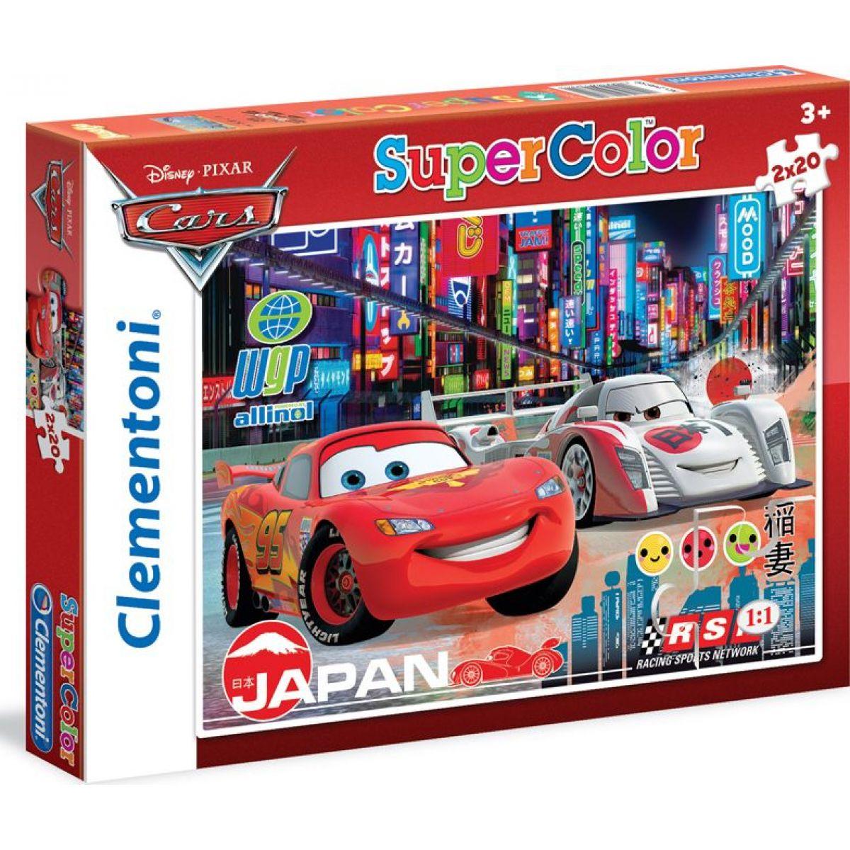 Clementoni Cars Puzzle Supercolor Auta 2 x 20 dílků