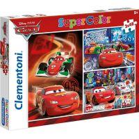Clementoni Cars Puzzle Supercolor Auta 3x48d