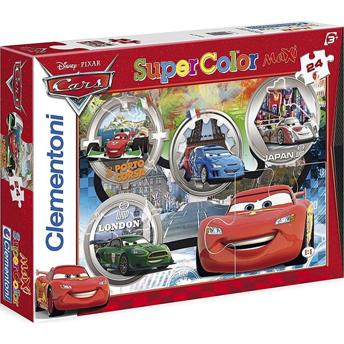 Clementoni Cars Supercolor Auta Puzzle Maxi 24 dílků