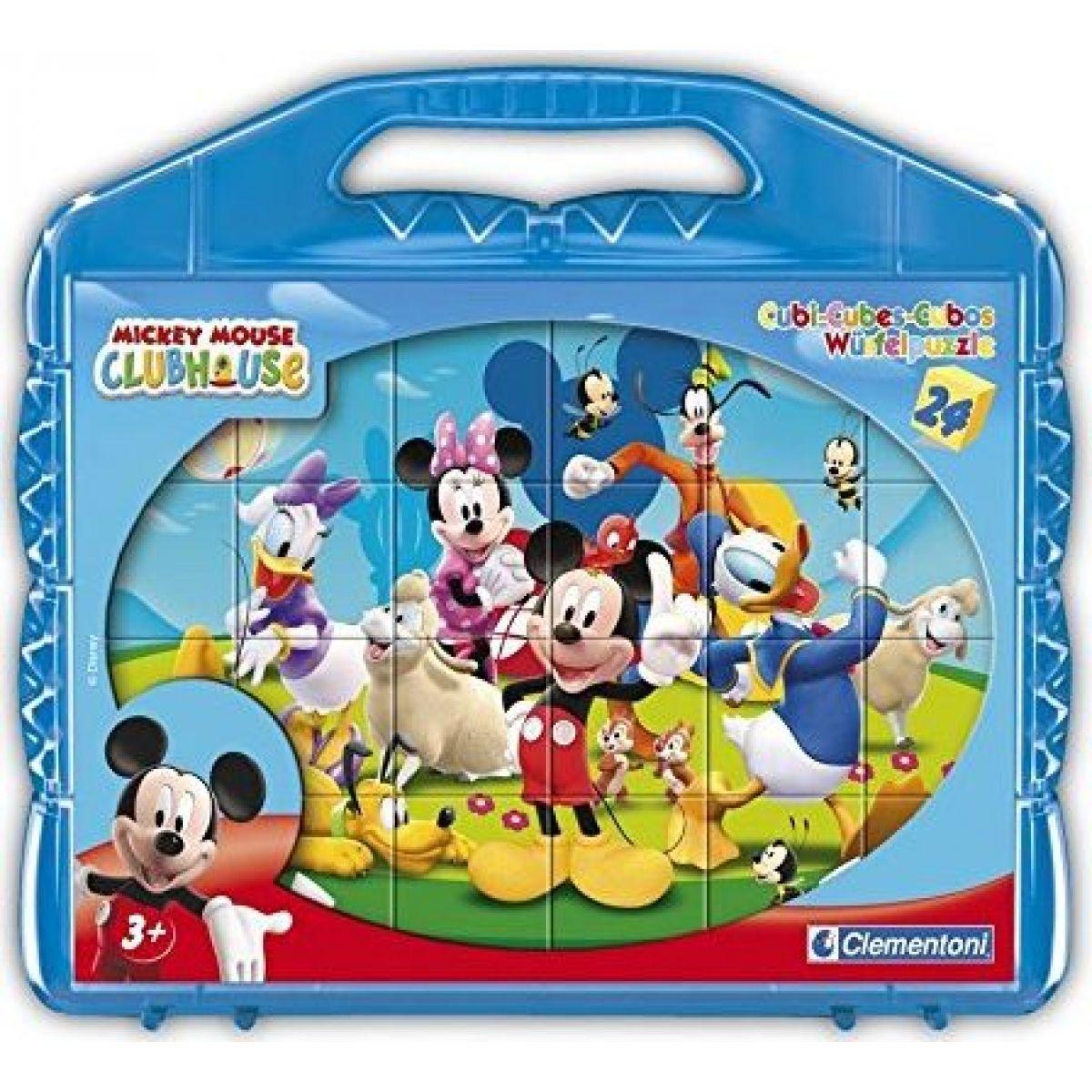 Clementoni Disney Kostky v kufříku Mickey Mouse 24 ks