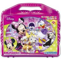 Clementoni Disney Minnie Kostky v kufříku 12 kostek