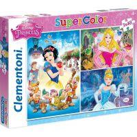 Clementoni Disney Princes Puzzle Supercolor Princezny 3 x 48 dílků