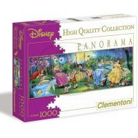Clementoni Disney Puzzle Panorama Princezny na houpačkách 1000d