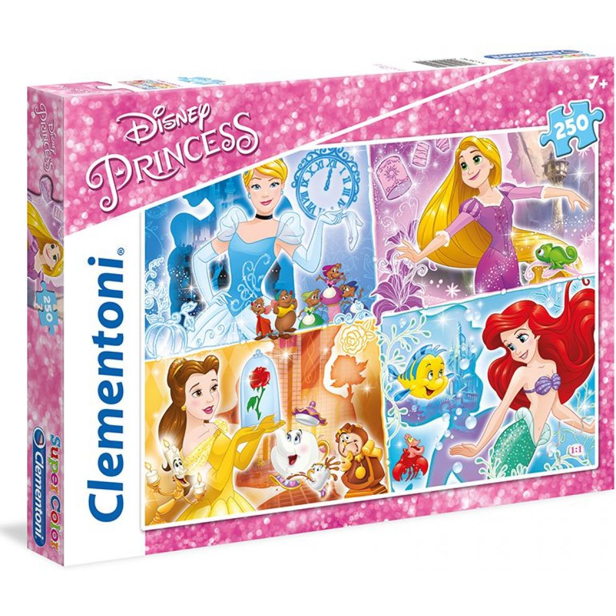 Clementoni Disney Princess Puzzle Supercolor 250 dílků