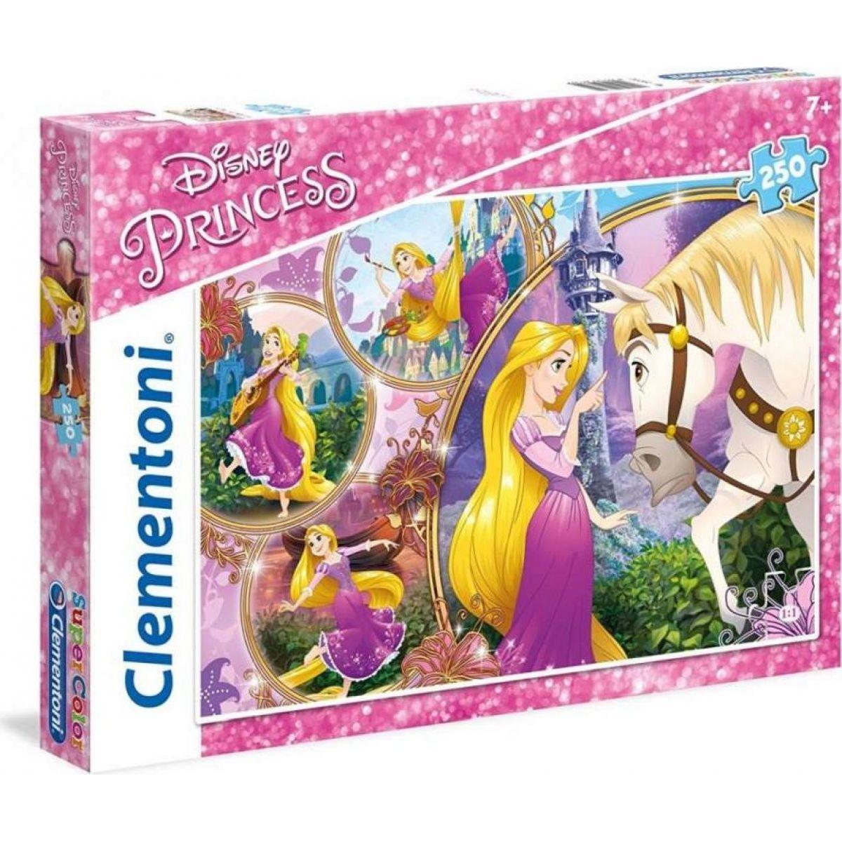 Clementoni Disney Princess Puzzle Supercolor Na Vlásku 250 dílků