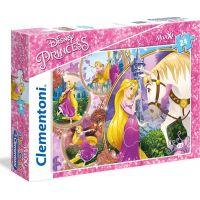 Clementoni Disney Princess Supercolor Puzzle Maxi Na Vlásku 24 dílků