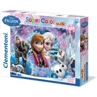 Clementoni Disney Puzzle Maxi Supercolor Frozen 104 dílků
