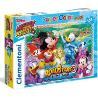 Clementoni Disney Puzzle Mickey závodník Supercolor Maxi 104 dílků