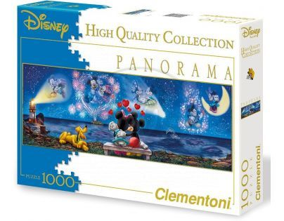 Clementoni Disney Puzzle Panorama Mickey a Minnie 1000d