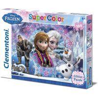 Clementoni Puzzle Supercolor Glitter Frozen 104d