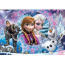 Clementoni Puzzle Supercolor Glitter Frozen 104d 2