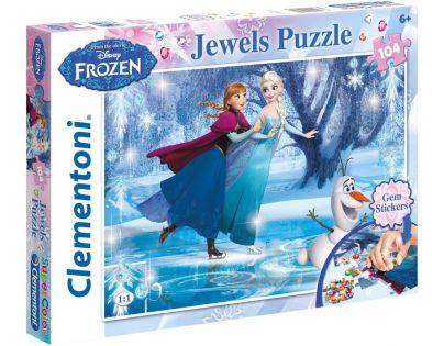 Clementoni Disney Puzzle Supercolor Jewels Frozen 104 dílků