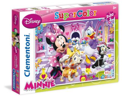 Clementoni Disney Puzzle Supercolor Minnie 2x20d