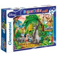 Clementoni Disney Supercolor Kniha Džunglí Puzzle Maxi 104 dílků