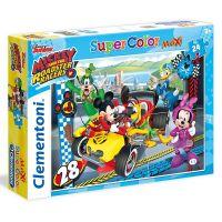 Clementoni Disney Supercolor Maxi Puzzle Mickey závodník 24 dílků