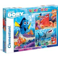 Clementoni Hledá se Dory Puzzle Supercolor 3 x 48 dílků
