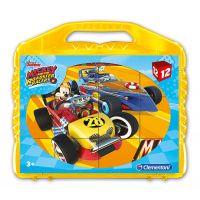 Clementoni Kostky Kufřík 12 kostek Mickey závodník