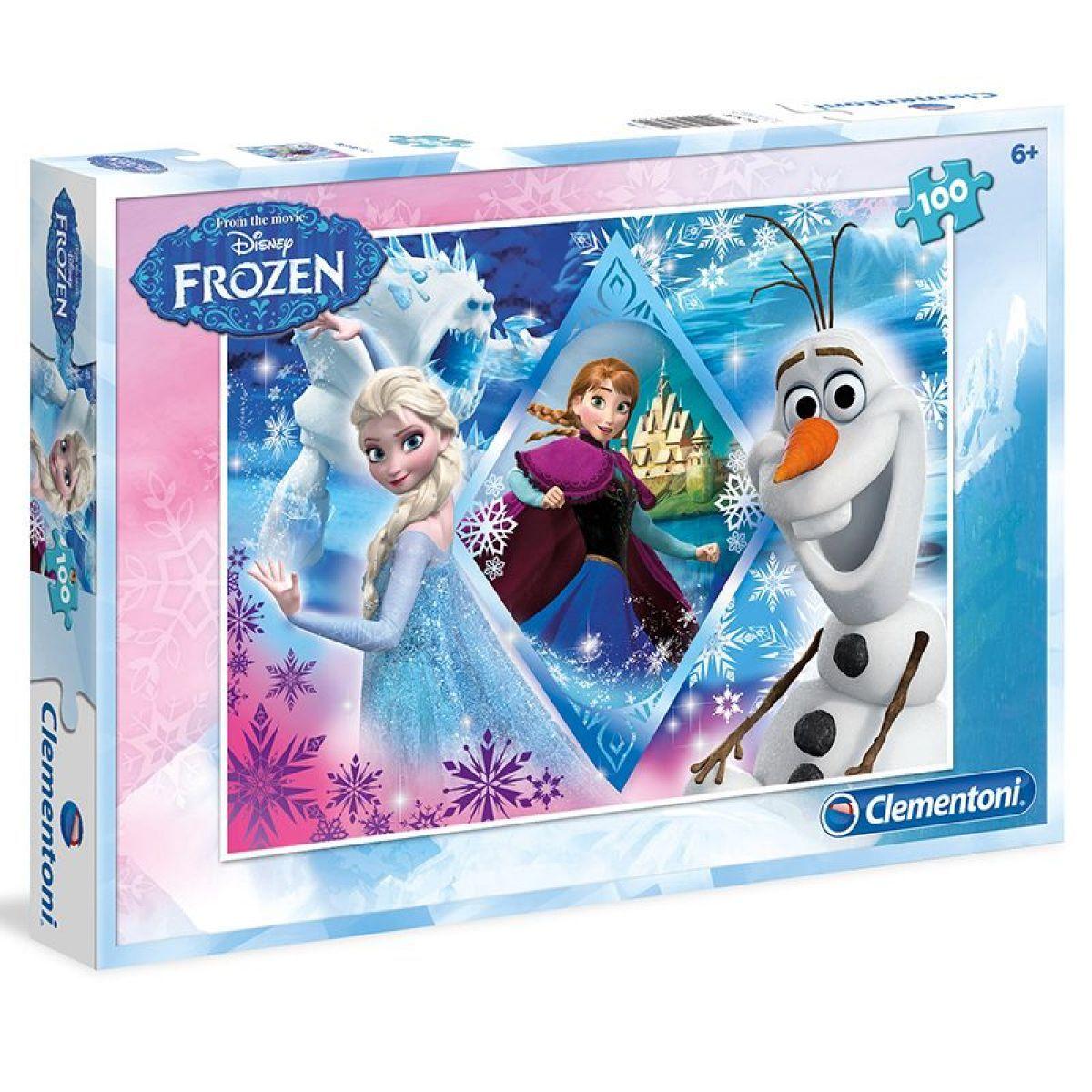 Clementoni Ledové království Puzzle Anna, Elsa, Olaf 100 dílků