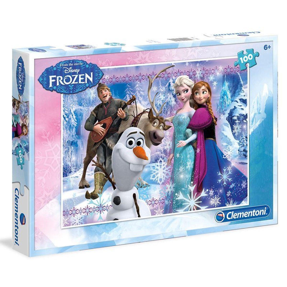 Clementoni Ledové království Puzzle Anna, Elsa, Olaf, Kristoff 100 dílků