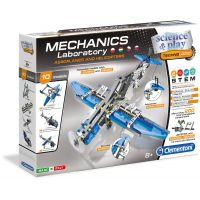 Clementoni Mechanická laboratoř Letadla a vrtulníky 10 modelů 200 dílků