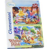 Clementoni Medvídek Pú Supercolor Puzzle 2 x 20 dílků