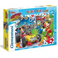 Clementoni Mickey závodník Supercolor Puzzle 104 dílků
