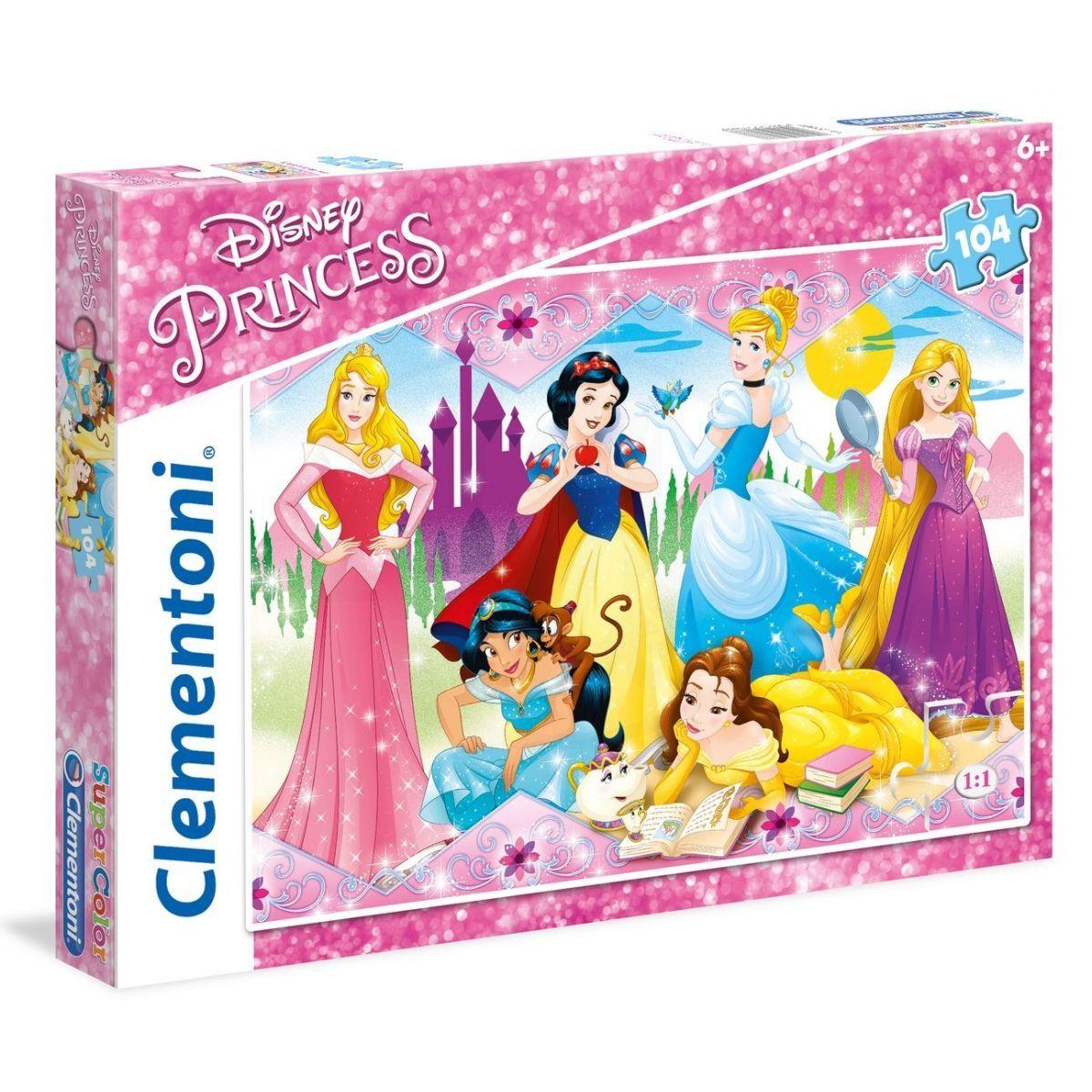 Clementoni Princess Supercolor Puzzle 104 dílků