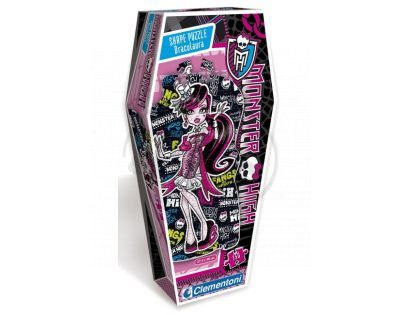 Clementoni 33C27534 - Tvarové Puzzle 150, Monster High Draculaura