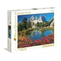 Clementoni Puzzle 1000 dílků Jezero s chatkou Poškozený obal