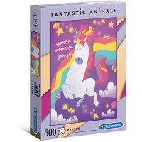 Clementoni Puzzle Fantastic Animals 500 dílků Jednorožec