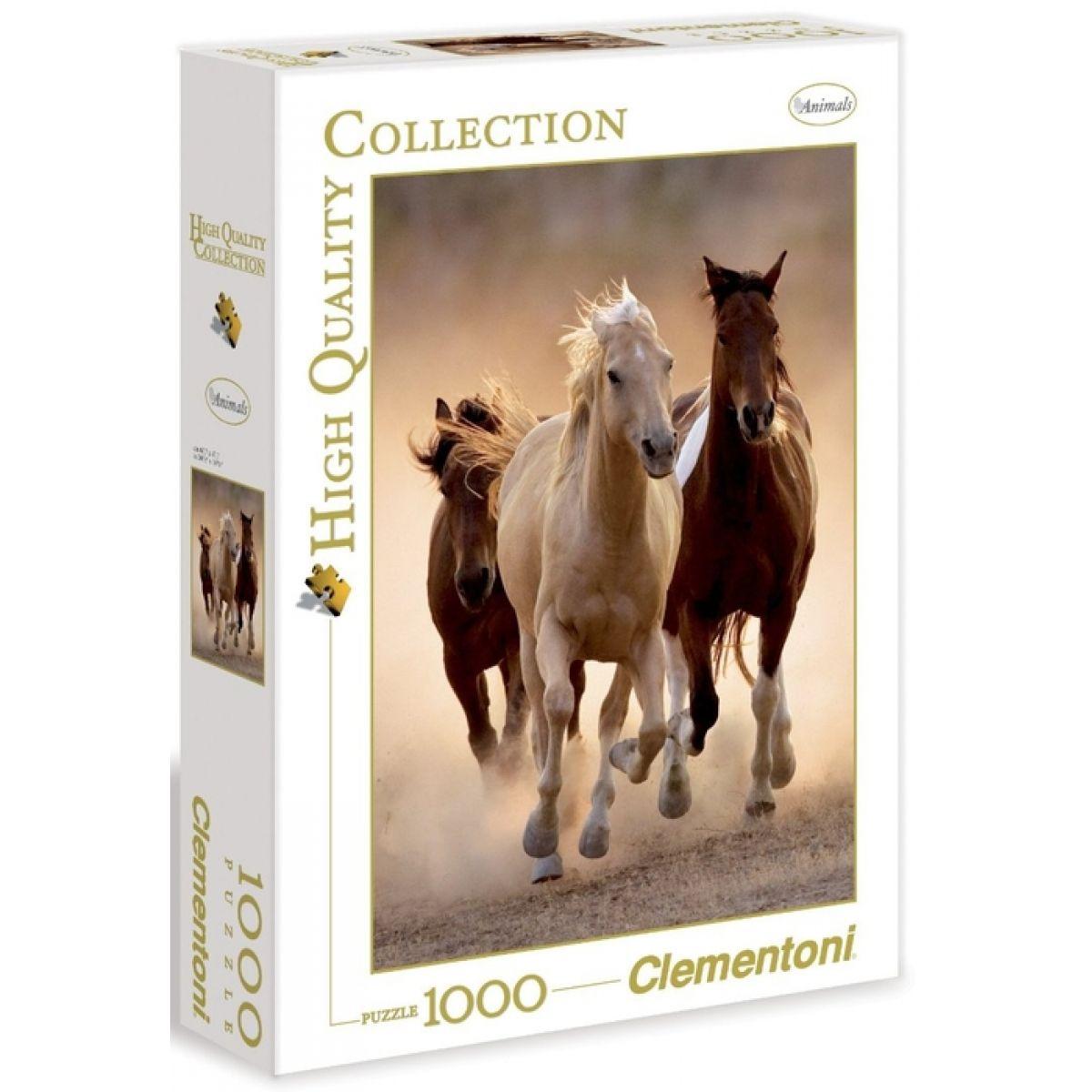 Clementoni Puzzle Běžící koně 1000 dílků