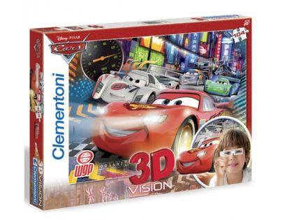 Clementoni 33C20044 - Puzzle 3D 104, Cars 2 wgp