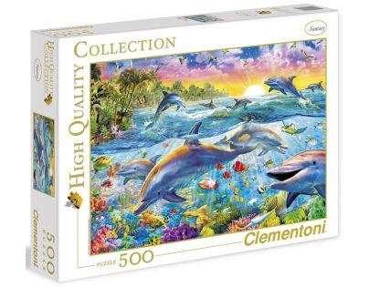 Clementoni 30170 - Puzzle 500, Tropical Dolphin