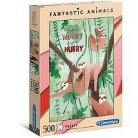 Clementoni Puzzle Fantastic Animals 500 dílků lenochodi
