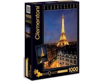 Clementoni 39210 - Puzzle Fluorescentní 1000, Paříž