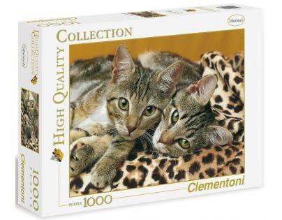 Clementoni 39237 - Puzzle 1000, Koťata mourovatá